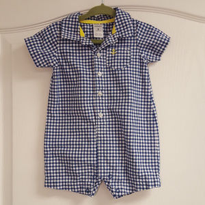 Carter's Blue Gingham Anchor Suit